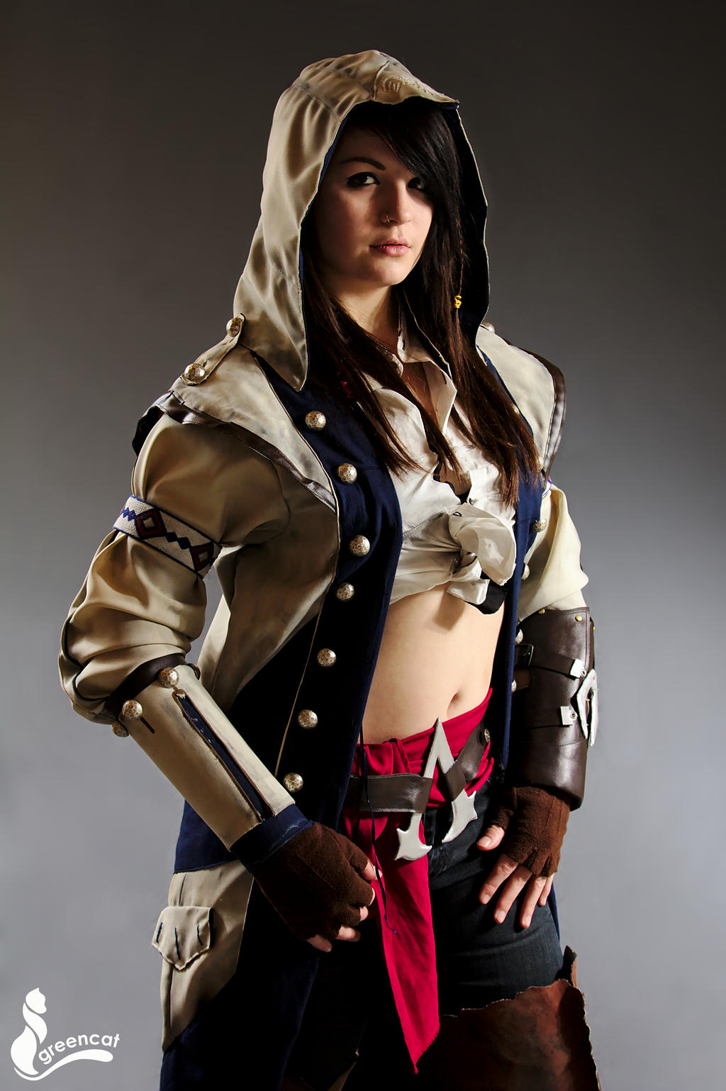 Connor Kenway female - Assassin's Creed III by greengreencat