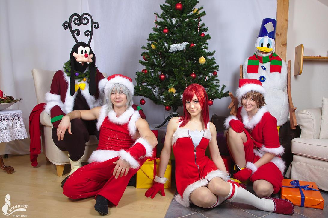 Kingdom Hearts Xmas by greengreencat