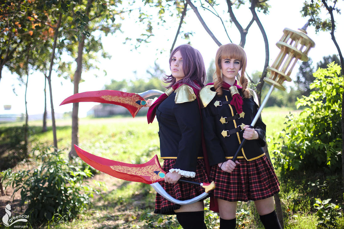 Rem and Cinque - Final Fantasy Type-0 by greengreencat
