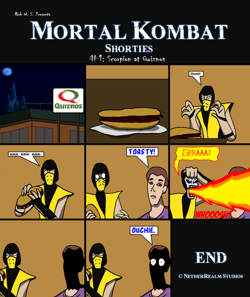 Quiznos Funny Meme : Mortal kombat scorpion meme imgkid the image