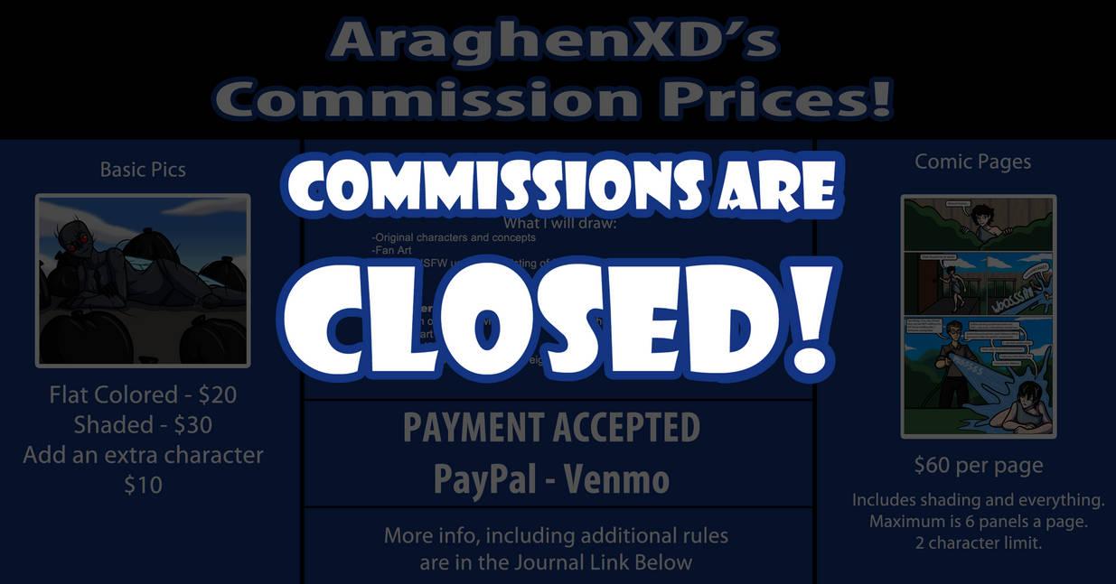 Commission Prices -CLOSE-