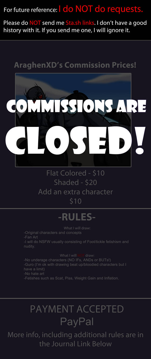 Commission Prices CLOSED by AraghenXD