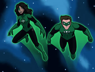 Green Lanterns Soaring by AraghenXD