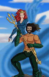 Aquaman and Mera - the King and Queen of Atlantis by AraghenXD