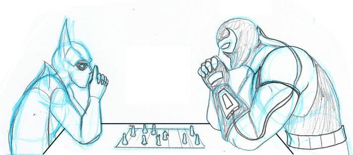 -SKETCH- Batman vs Bane