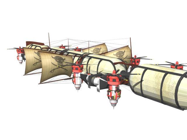 Airship by Claevius