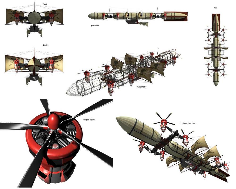 Fantasy - style Airship by Claevius