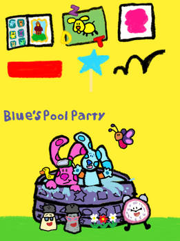 Blue's Pool Party VHS USA