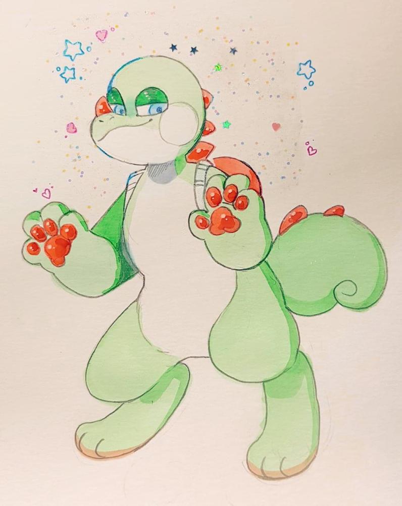sassy yoshi by sirfluff-thefluff