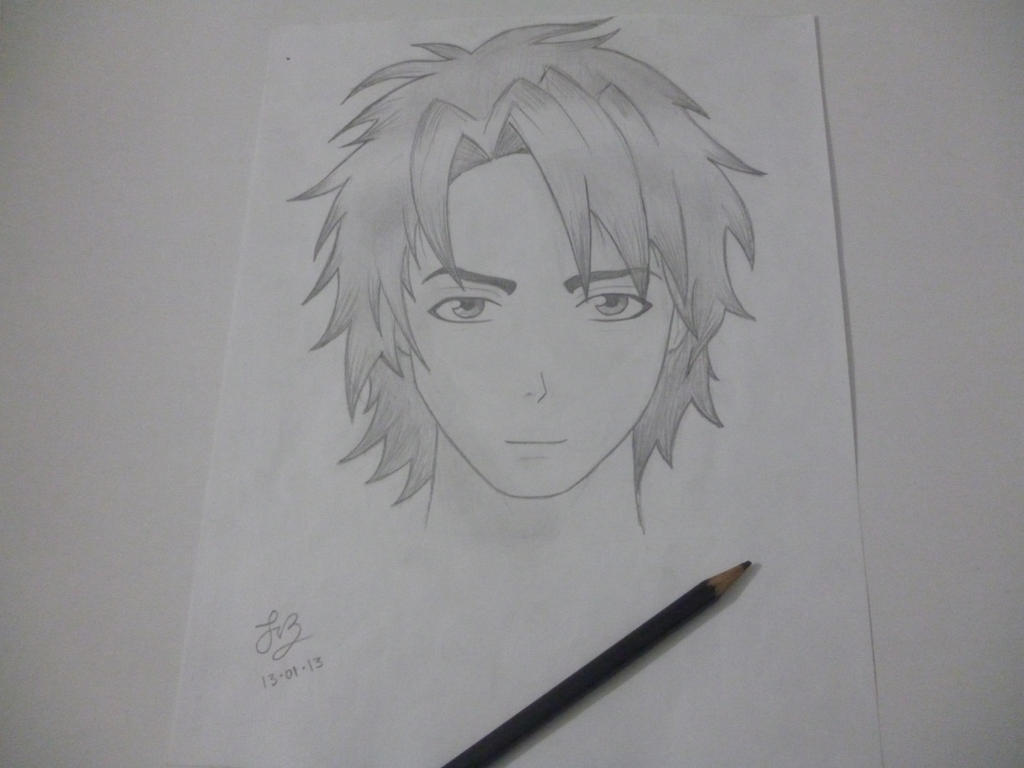 how to draw anime face boy