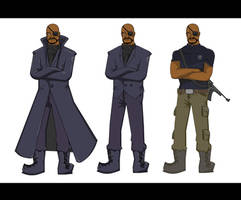 Nick Fury Outfits by tarunbanned