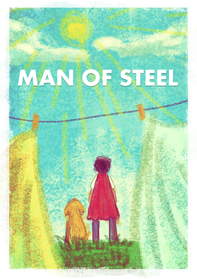 MAN OF STEEL Poster by tarunbanned