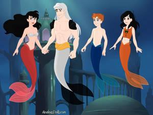 Sesshomaru's Family as Merfolk