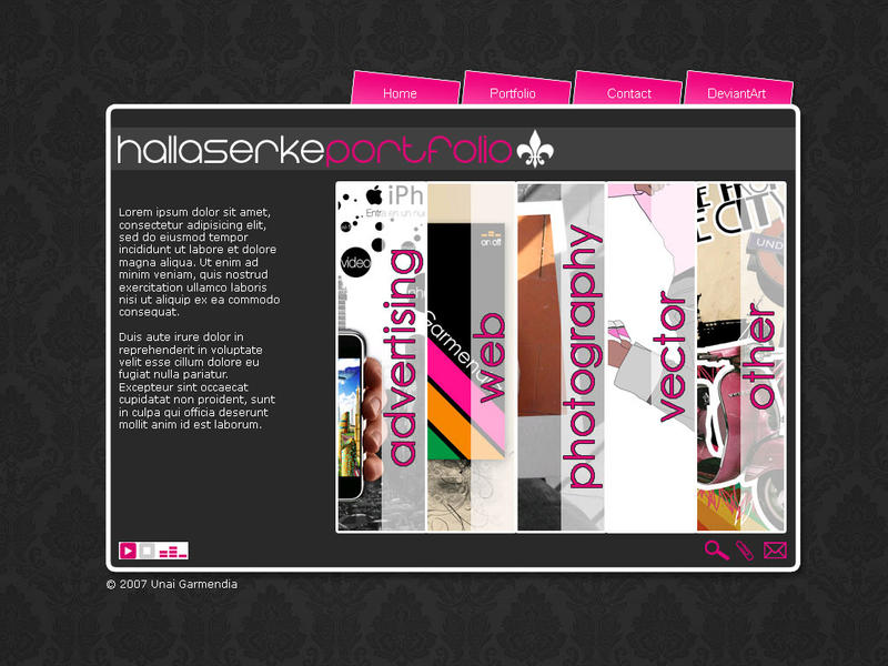 New web by Hallaserke