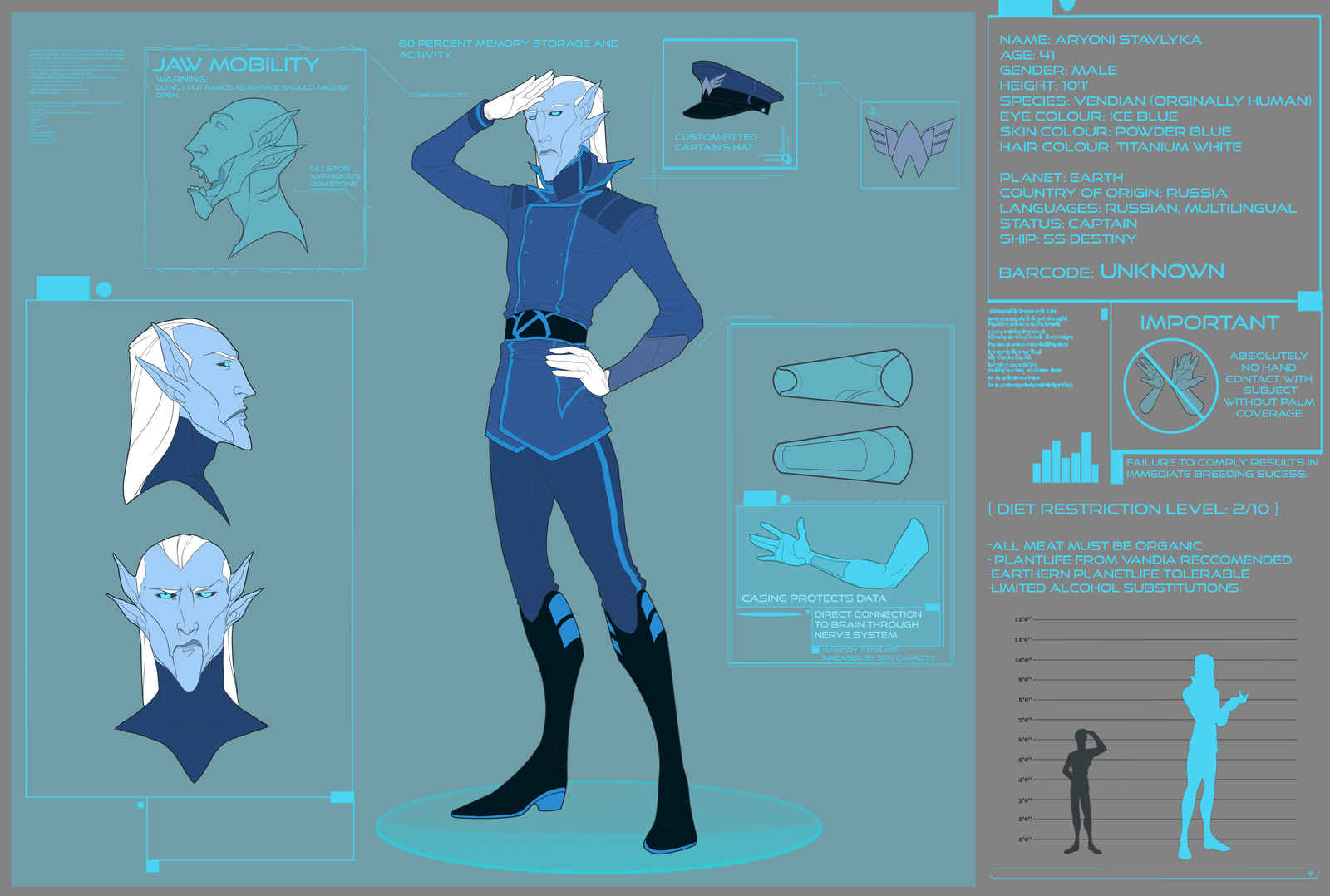 Character sheet: Aryoni Stavlyka by Astrall-Cooties
