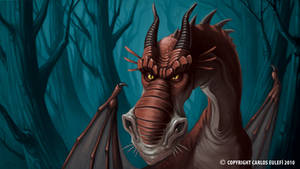 Embittered Dragon by Kaek