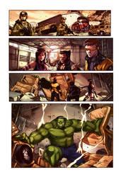X men comic coloring sample by Kaek