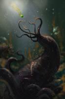 Lovecraftian speedpaint by Kaek