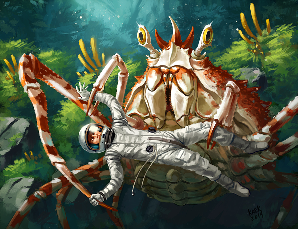 Almighty Space Crab by Kaek