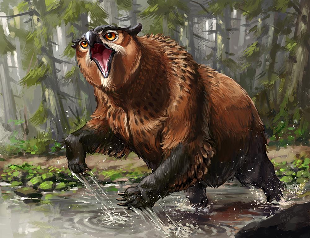 Owlbear fanart by Kaek