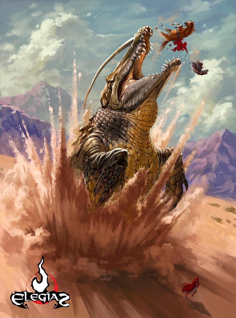 Giant Sand Croc by Kaek