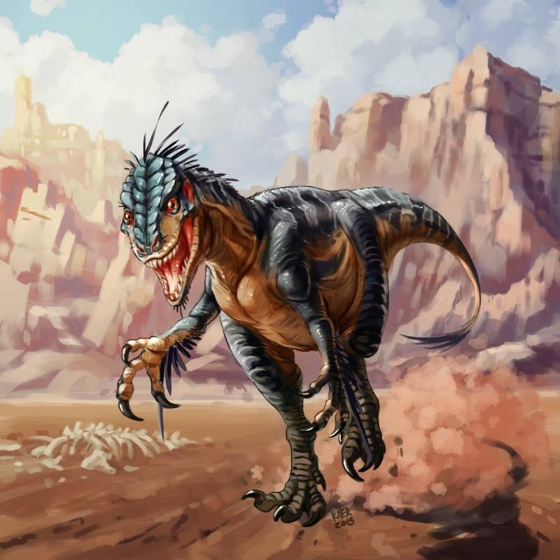 Fake raptor by Kaek