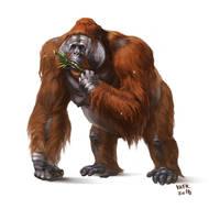 Gigantopithecus blacki by Kaek
