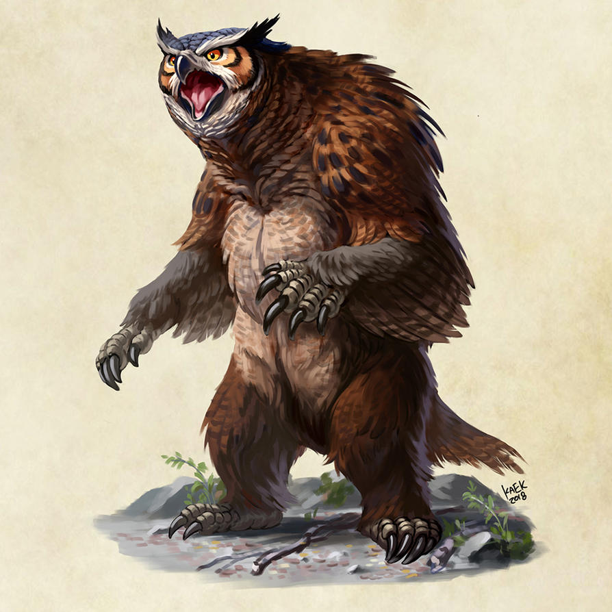 short faced owlbear by Kaek