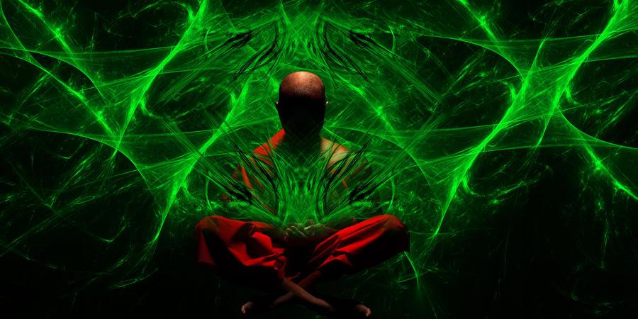 Green Flame Skull Wallpaper
