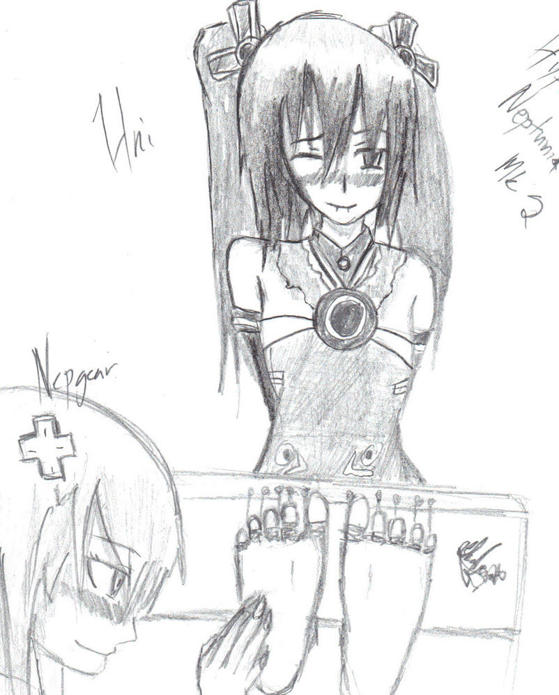 Hyperdimension Neptunia Mk2- Uni tickled by DeathBlackShadoz