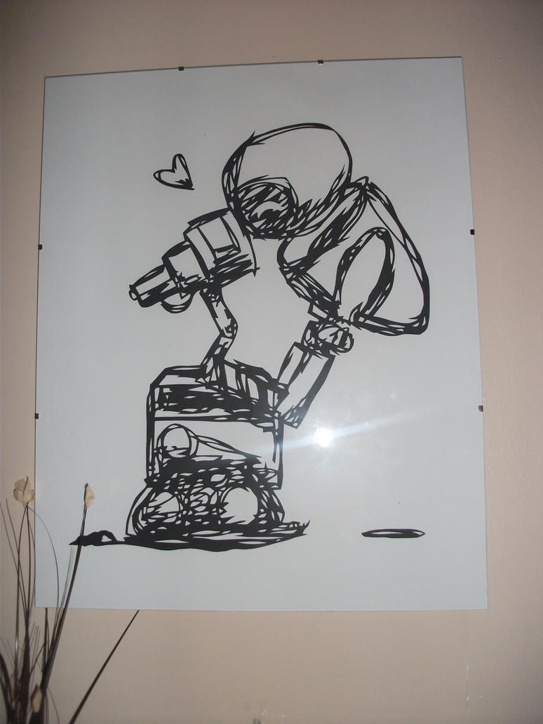 Wall-e Papercut by matstar102