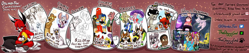 Commission Prices - 2015 by TheDoggyGal