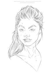 Jade Weber - Pencils by Jon-Moss