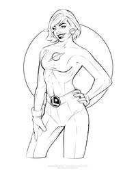 Saturn Girl - Inks