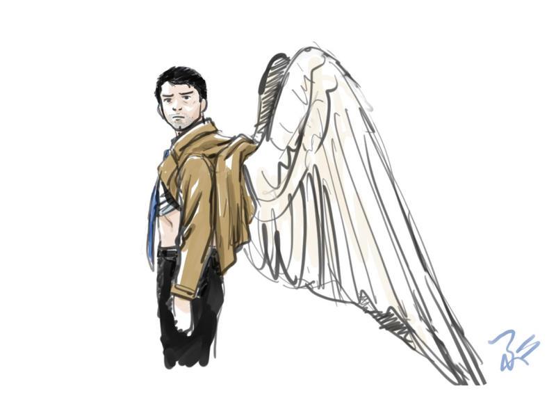 Doodle -Cas' wings- by blacktsubu