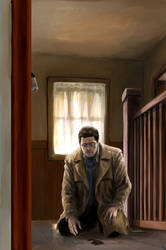 Castiel visits the house where Jack was born 2