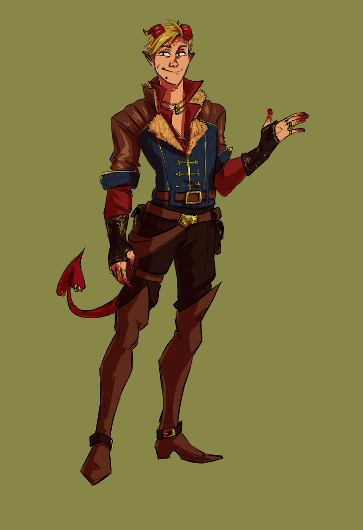 dnd tiefling rogue/bard by straycalamity on DeviantArt