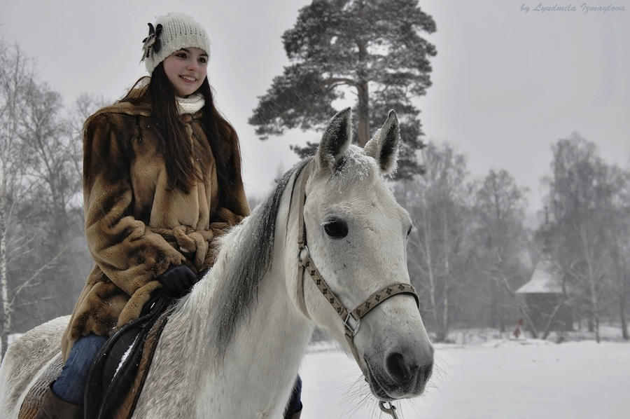 Stranger on horse by Lyutik966