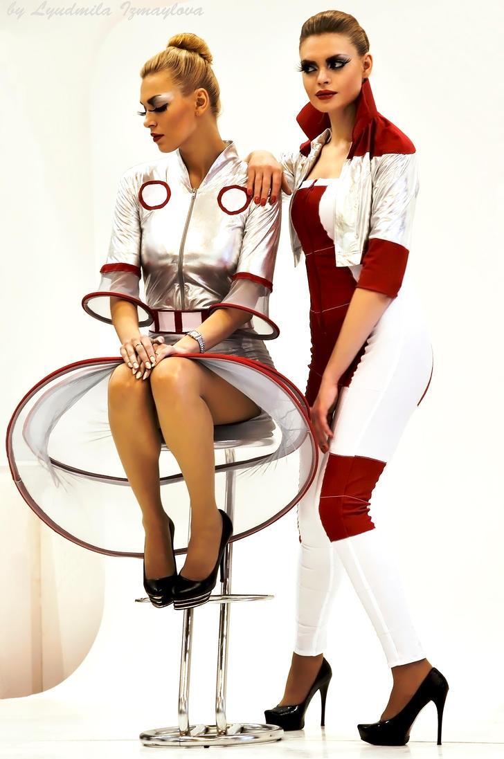 two professional models by Lyutik966