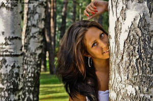 Anastasia in birches by Lyutik966
