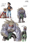 Doomsday Redesigns (+ Krypto and Superboy)