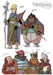 EARTHSEA Character design - various