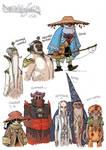 EARTHSEA Character design - various 2