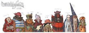 EARTHSEA Character design - Nine Masters of Roke