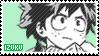 stamp - izuku midoriya