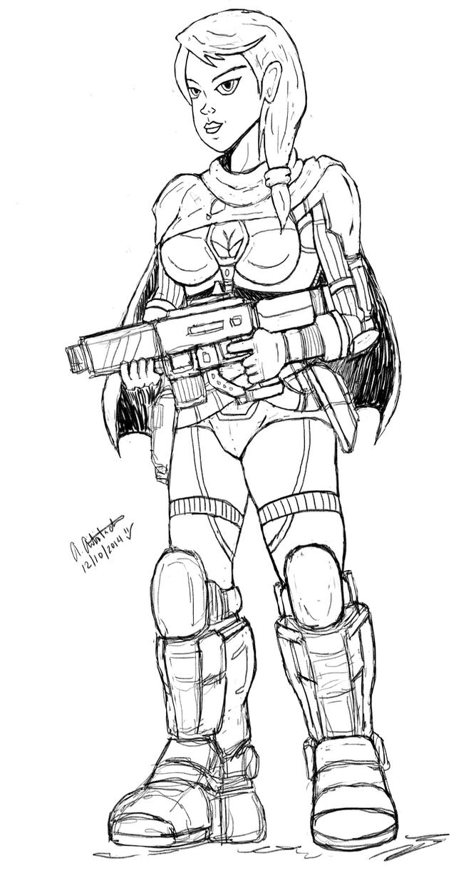 Sketch: Hunter by archaznable30