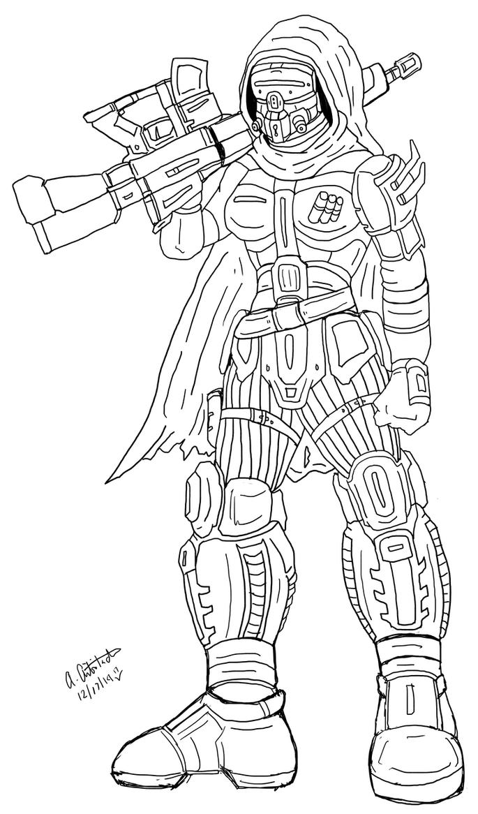 My own Hunter ink version: level 29 by archaznable30