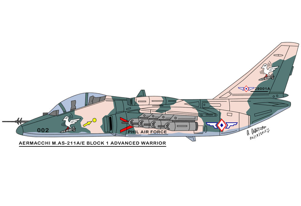 AERMACCHI M.AS-211A/E BLOCK 1 ADVANCED WARRIOR by archaznable30