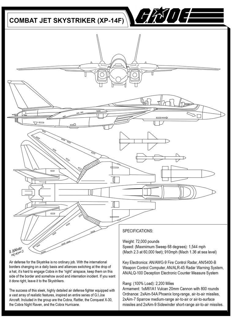 GIJOE Combat Jet Aircraft Skystrike (XP-14F) by archaznable30