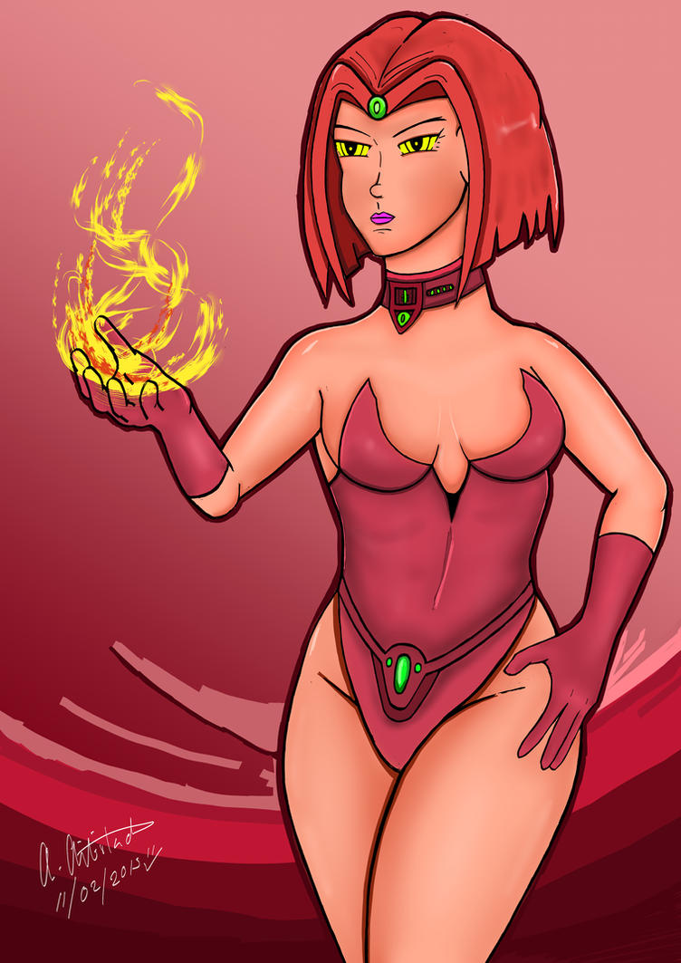 Red Mystique Flame by archaznable30